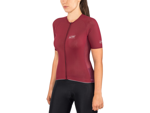 Northwave Allure Maillot Manga Corta Mujer, bordeaux